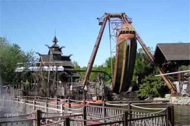 Piratensegelschiff im Europa-Park in Rust